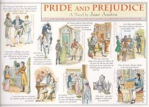 Pride & Prejudice Book Jane Austen Giant Rare Postcard