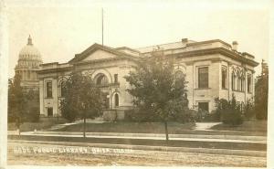 Boise Idaho Public Library 1920s RPPC Photo Postcard 3307