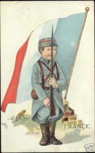 U.S. Allied Kid Series FRANCE Soldier FLAG (1919)
