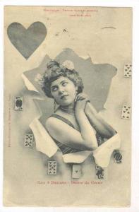 Playing cards  (Les 4 Dames) - Dame de Coeur, PU-1902