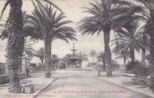 Hyères , France , 00-10s ; Avenue et Fontaine Godillot