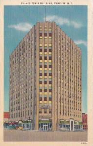 New York Syracuse The Chimes Tower Building 1955