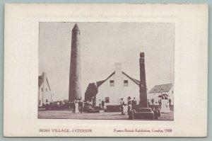 London~Franco British Exhibition~Irish Village~Interior~Postcard~1908