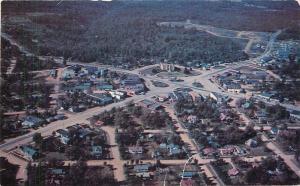 Camdenton Missouri~City Birdseye~Homes~Business~1950s Postcard