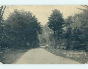 Bent Corner Divided-Back ROAD AT ENTRANCE TO MOSQUITO VALLEY Williamsport p1944