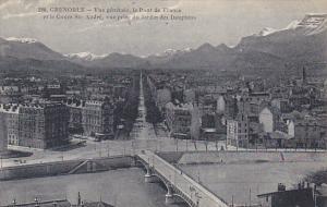 France Grenoble Vue Generale le Pont de France et le Cours St-Andre