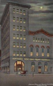 WATERTOWN , New York , 00-10s ; Masonic Hall at night