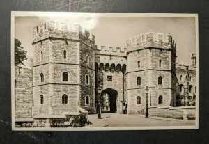 Mint Vintage Henry VIII Gateway Windsor Castle RPPC Postcard
