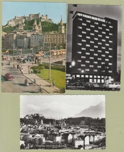 SALZBURG RPPC Post Cards Austria Panorama Hotel Europa