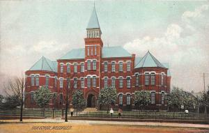 Ohio Postcard WELLSVILLE Columbiana County c1910 HIGH SCHOOL BUILDING