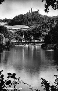 Balduinstein an der Lahn Schloss Schaumburg River Bridge Castle Postcard