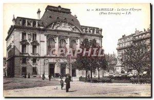 Postcard Old Marseilles Caisse d'Epargne Estrangin Place