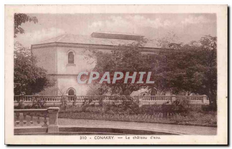 Old Postcard Guinea Conakry The water chaetau