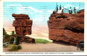 Colorado Balanced and Steamboat Rocks Mushroom Park 1925 Curteich