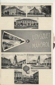 Hungary mechanical vintage postcard multi views Mako Macau 1937 RARE