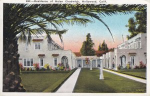 HOLLYWOOD, California, 1900-10s; Residence of Helen Chadwick