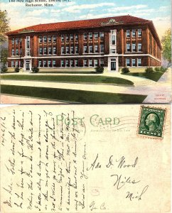 The New High School, Erected 1911, Rochester, Minnesota