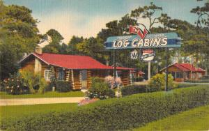 Panama City Florida Log Cabins Street View Antique Postcard K107186