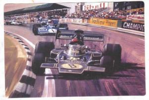 Racing postcard by Artist Michael TURNER, 1995 ; #16
