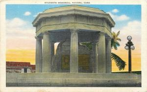 Havana Cuba~8 Executed 1871 Medicine Students Memorial~1930s Linen Postcard