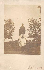 G45/ Jeffersonville New York RPPC Postcard 1915 Bill Depew Wife