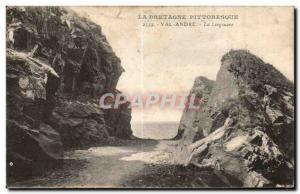 Old Postcard Brittany pittorresque Val Andre The Lingouare