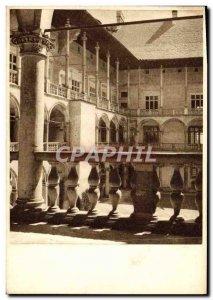 Postcard Old Krakow Royal Castle The courtyard arcades Poland Poland
