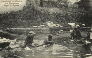 portugal, Azores Acores, FAYAL, Lavadeiras na Ribeira dos Flamengos, Washing