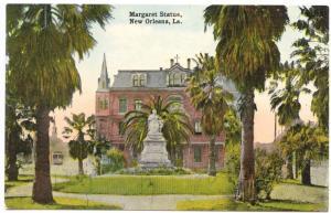 New Orleans LA Margaret Statue Trolley Postcard