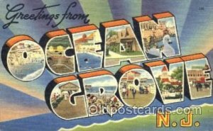 Greetings From Ocean Grove, New Jersey, USA Large Letter Town Unused