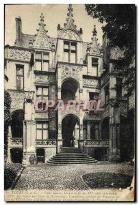 Postcard Old Tours Hotel Gouin