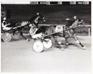 SPORTSMAN'S PARK, Harness Horse Race, MAJOR RED Winner, Pottawatomie Pace