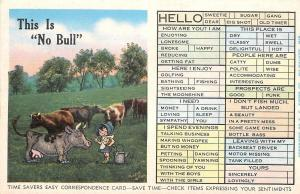 Time Savers Easy Correspondence Checklist~Cartoon Girl~No Bull~Wants To Milk