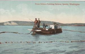 Washington Seattle Purse Seiners Catching Salmon