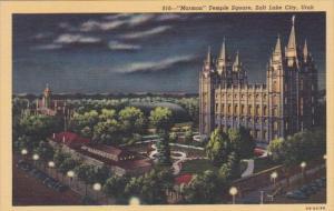 Utah Salt Lake City Mormon Temple Square Curteich