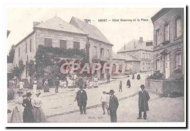 REPRO Anost Vintage Postcard Hotel Duvernoy and the place
