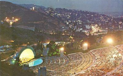 Hollywood Bowl at Night, Hollywood, California 1975 used ...