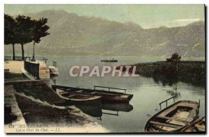 Old Postcard Aix Les Bains collar and Dent du Chat Small port