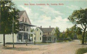 Canadensis Pennsylvania Main Street Looking North SN Co 1915 Postcard 10503