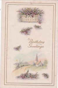 Happy Birthday Greetings Landscape Scene
