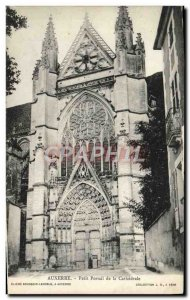 Old Postcard Auxerre Small Portal of the Cathedral
