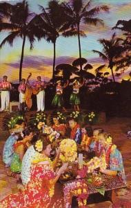 Hawaii Honolulu Luau At Sunset