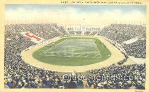 Exposition Park, Los Angeles, CA, USA Foot Ball,  Football Stadium Postcard P...