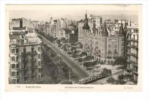 RP  Barcelona , Spain, Avenida del Generalisimo, 1940s