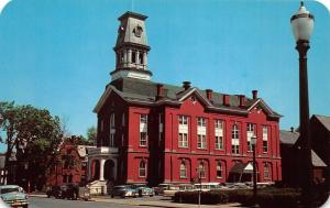 Herkimer New York~Herkimer County Court House on Main Street~50s Cars~Lamppost