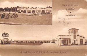 Salinas California~Lindy Motor Inn~Roadside Motel~US Route 101~1950 Sepia Litho
