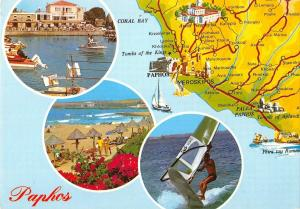 B96360 paphos map cartes geographiques cyprus