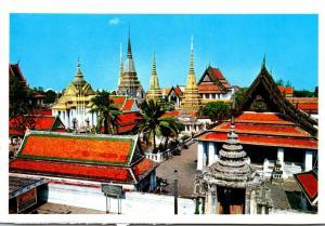 Thailand Bangkok Birds Eye View Of Wat Pho
