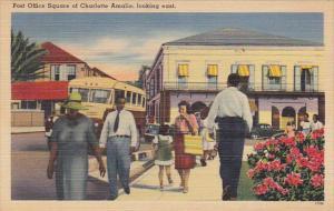Saint Thomas Charlotte Amalie Post Office Square Looking East