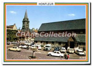 Modern Postcard Honfleur Place Sainte Catherine Bell And His